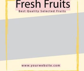 Fresh Fruit Media Backgrund Psd Design