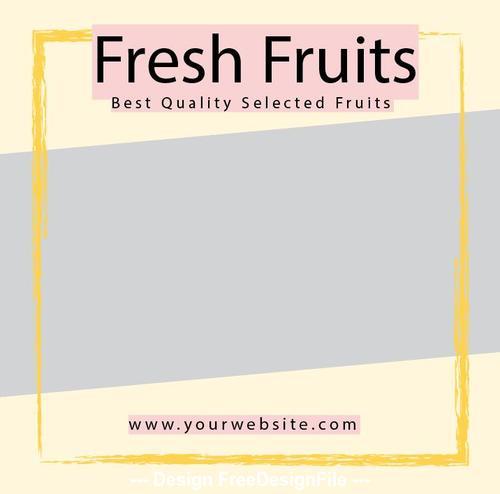 Fresh Fruit Media Backgrund Psd Design