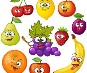 Fruit amusing cheerful cartoon vector