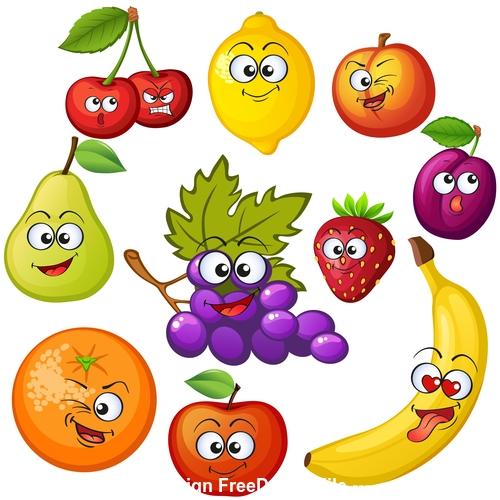 Fruit amusing cheerful cartoon vector