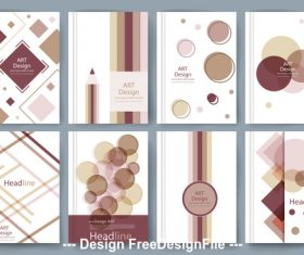 Geometry cover template vector