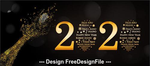 Golden 2020 decorative font New Year greeting card vector