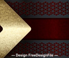 Golden arrow metal background vector