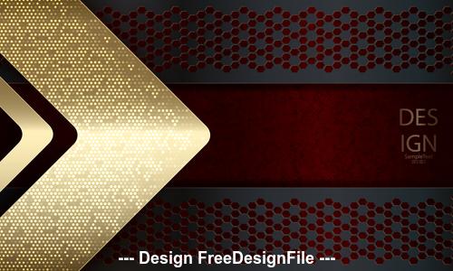 Golden arrow metal background vector