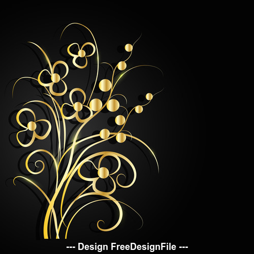 Golden pansy background vector