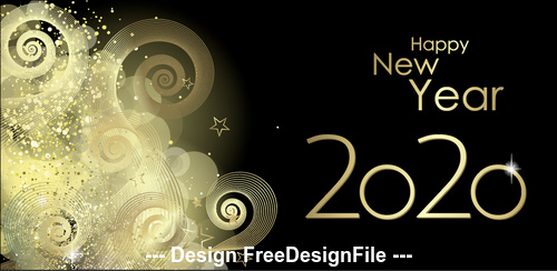 Golden silhouette illustration 2020 merry christmas vector