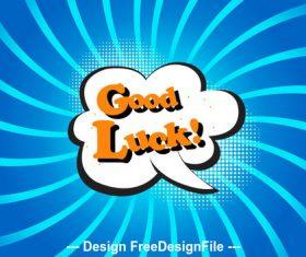 Good Luck cartoon vector