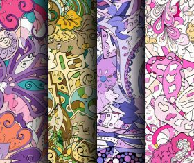 Good looking wallpaper seamless patterns vector