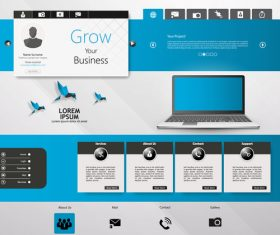 Good looking website templates vector
