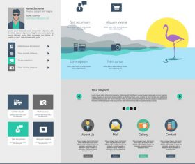 Gray website templates vector