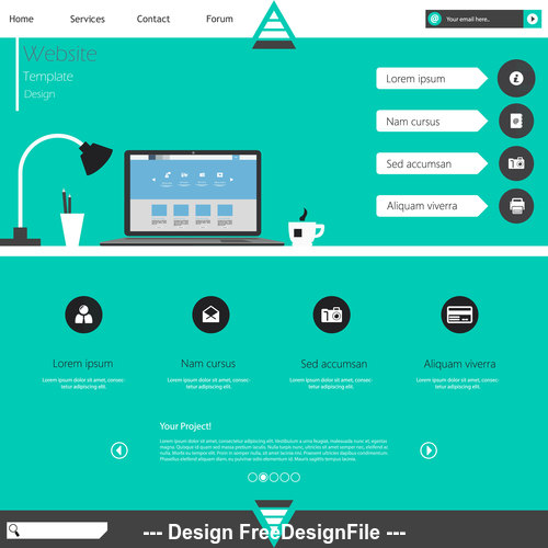 Green background website cover templates vector
