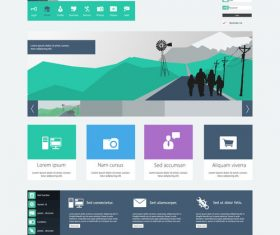 Green travel website templates vector