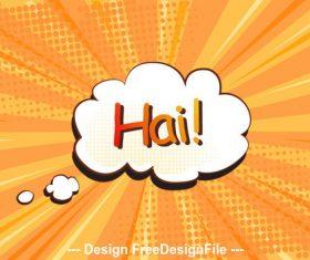 Hai Comic cartoon background vector