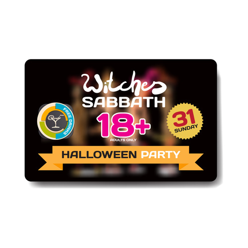Halloween discount gift card vector