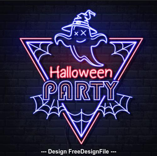Halloween holiday neon illustration vector