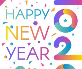 Happy 2020 New Year illustration background vector