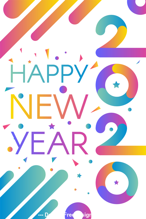 happy 2020 new year illustration background vector free download year illustration background vector