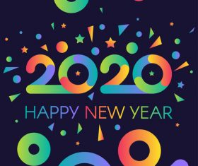 Happy 2020 New Year vector