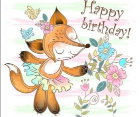 Happy birthday cartoon vector