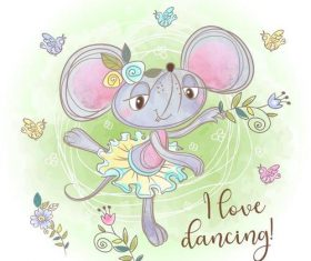 Happy dancing cartoon vector