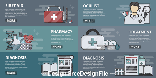 Health care banner vector