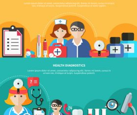 Health care leaflet vector