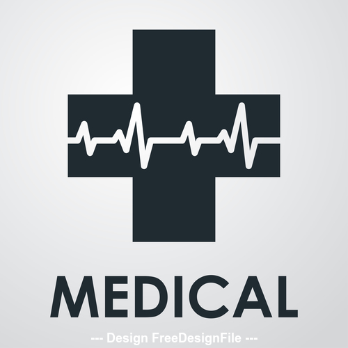 Heart rate medical icon vector