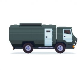 Heavy bank security vehicle vector