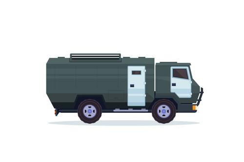 Heavy bank security vehicle vector
