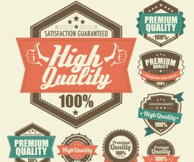 High quality label vector