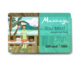 Holiday beach discount gift card vector