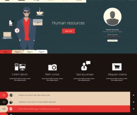 Human resources website templates vector