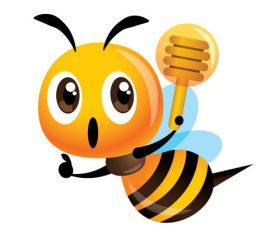 Illustration cartoon cute bee vector
