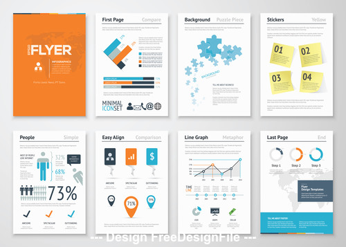 Infographic big set vector