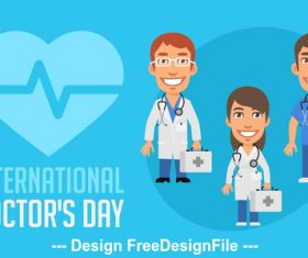International doctor day vector