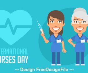 International nurse day vector