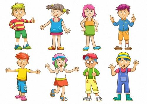 Kids play cartoon vector