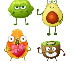 Kiwi and avocado cartoon expression vector