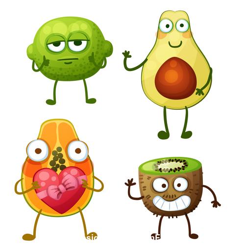 Kiwi and avocado cartoon expression vector