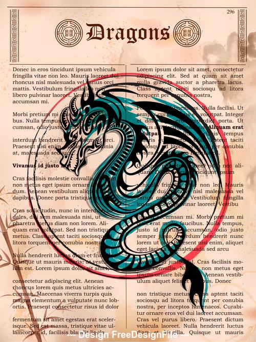 Legendary dragon vector