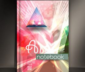 Line abstract notebook art cover vector