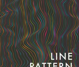 Line pattern color vector