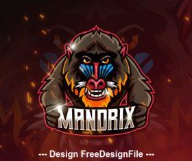 MANDRIX Mascot Esports Logo vector