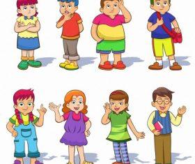 Male teacher and student cartoon vector