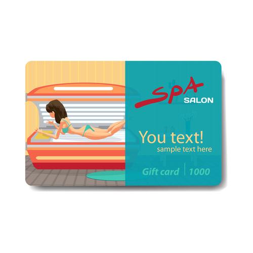 Massage discount card vector