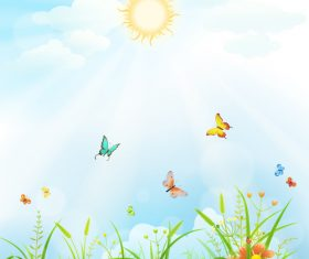 Meadow cartoon vector