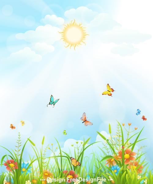Meadow cartoon vector