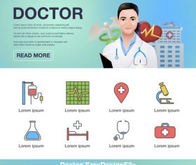 Medical Promotion Poster Flyer vector