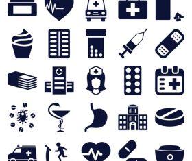 Medicine silhouette icon vector