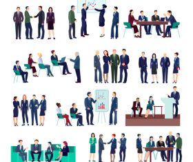 Meeting conference group template illustration vector